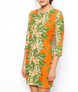 Rochie cu imprimeu Hawai