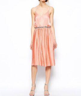 Rochie plisata roz
