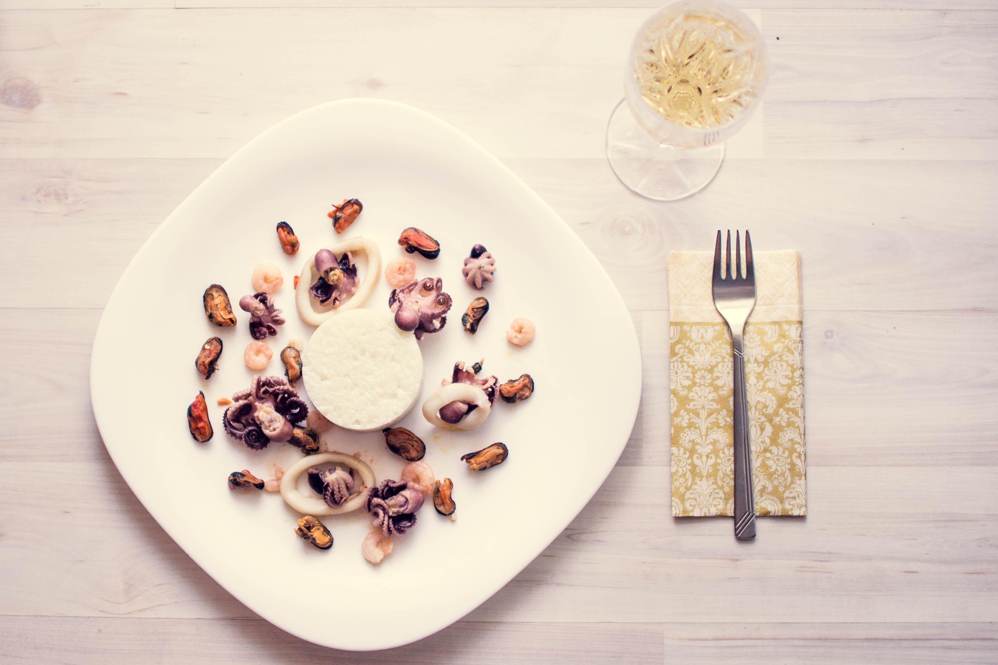 Risotto cu fructe de mare